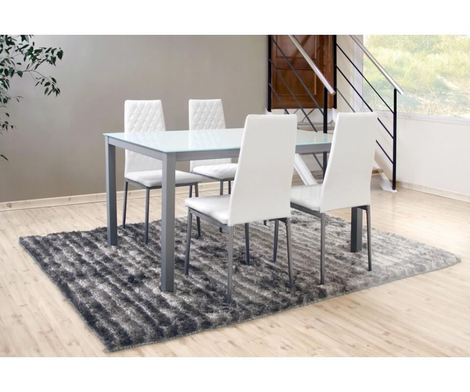 Comprar pack mesa y cuatro sillas clinc precio packs for Mesa cristal tuco