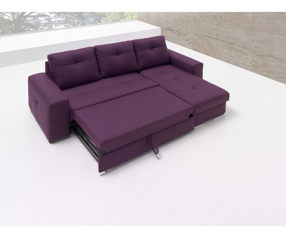 Sofá cama barato con Chaise Longue MONTANA Muebles Tuco