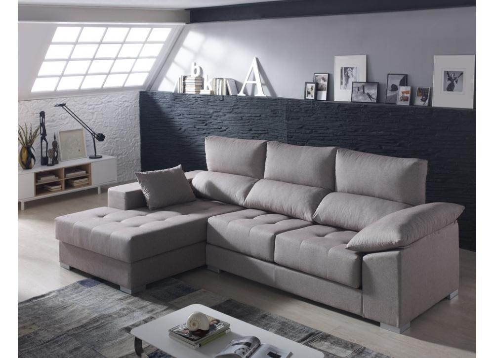 Comprar Sofá con chaise longue Briton | Precio Chaise Longue Tuco.net