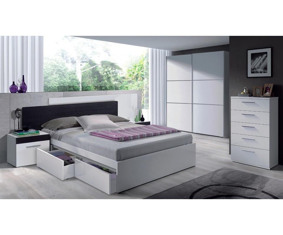 Comprar cama con cajones luca precio cabeceros y camas - Cama con cajoneras ...