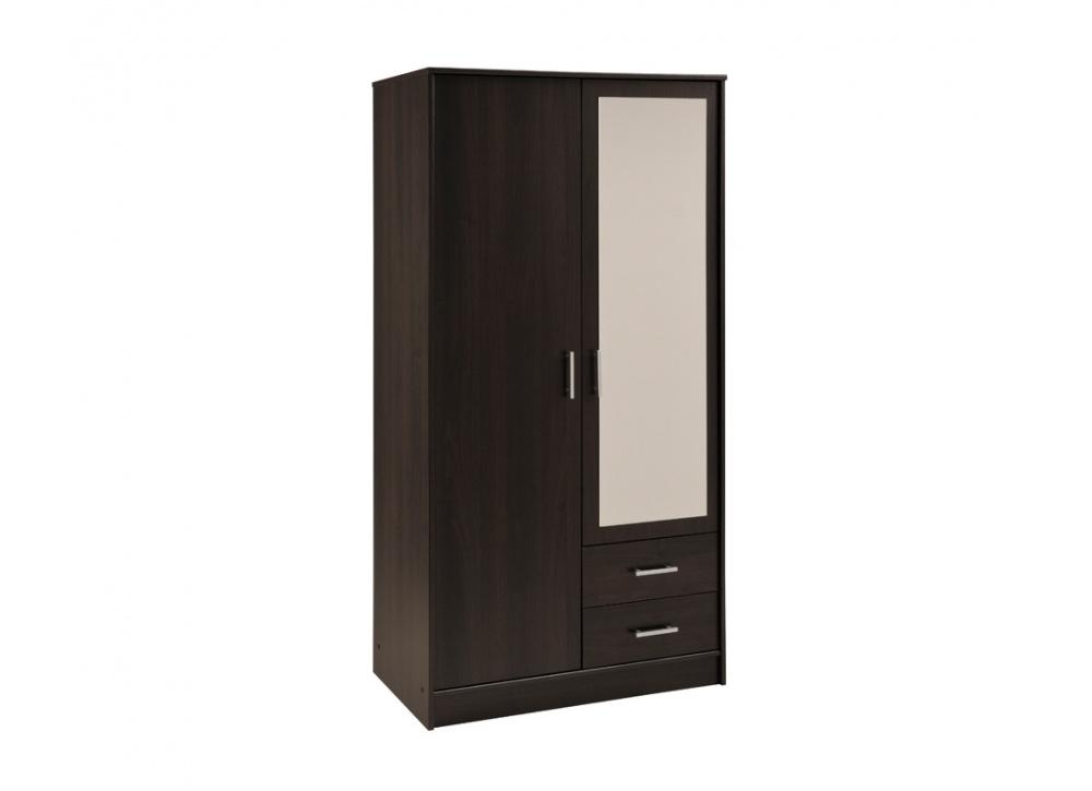 Armario dos puertas con espejo Oslo blanco