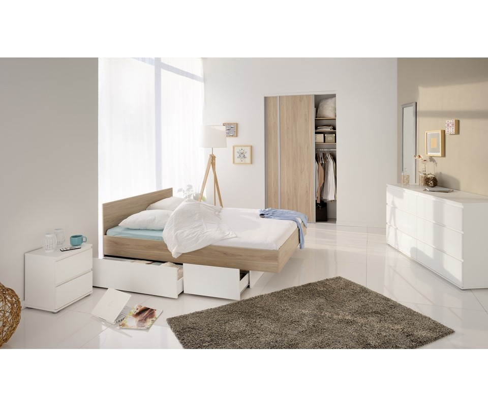 Comprar cama con cajones pure precio de cabeceros y for Precio de cama nido con cajones