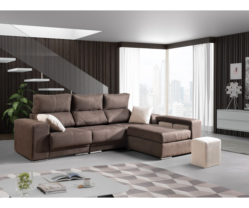 Comprar sof con chaise longue leeds precio de chaise for Sofa 1 plaza chaise longue