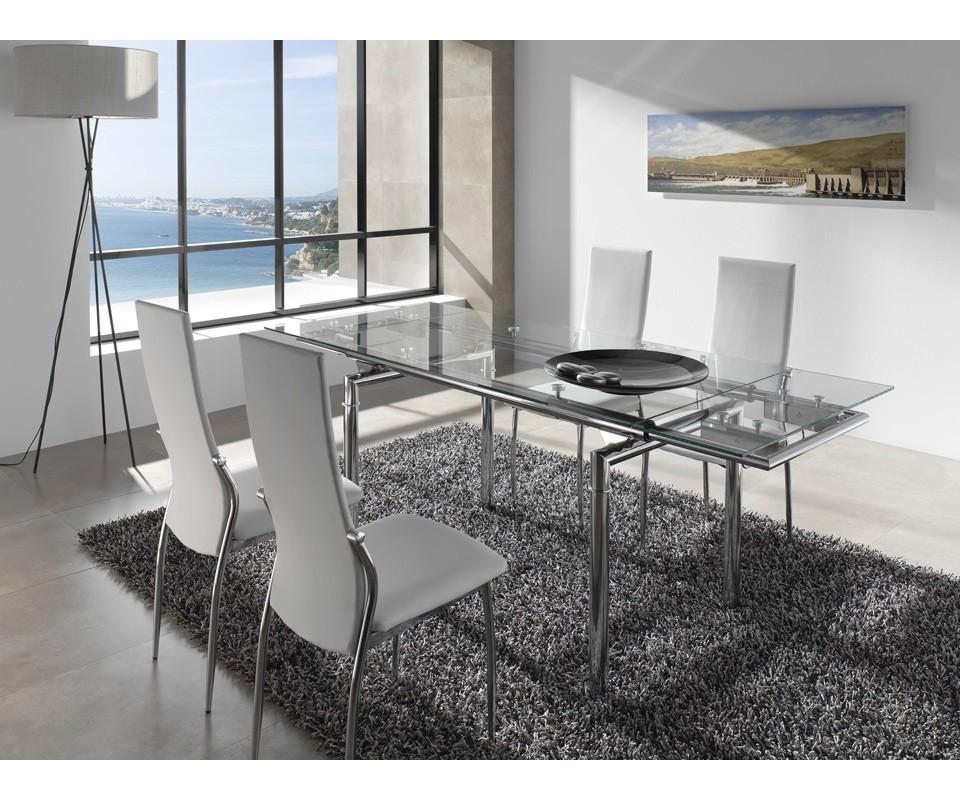Comprar mesa extensible cristal laos precio mesas for Precios de comedores modernos