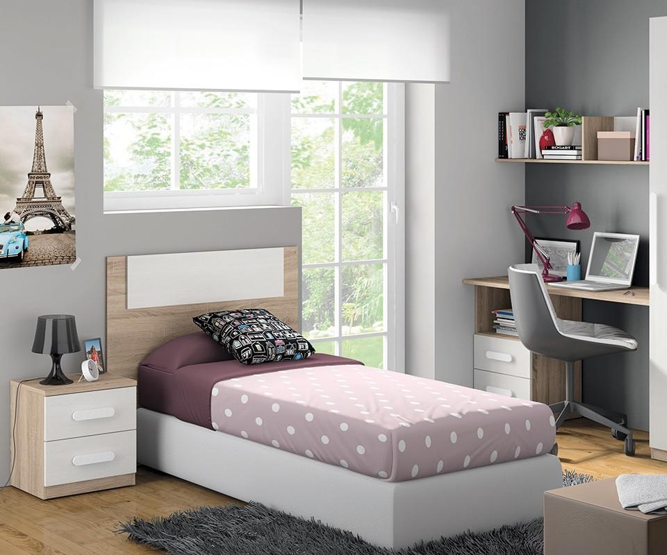 Cabecero de cama juvenil luc a comprar cabeceros en - Espejos para habitacion juvenil ...