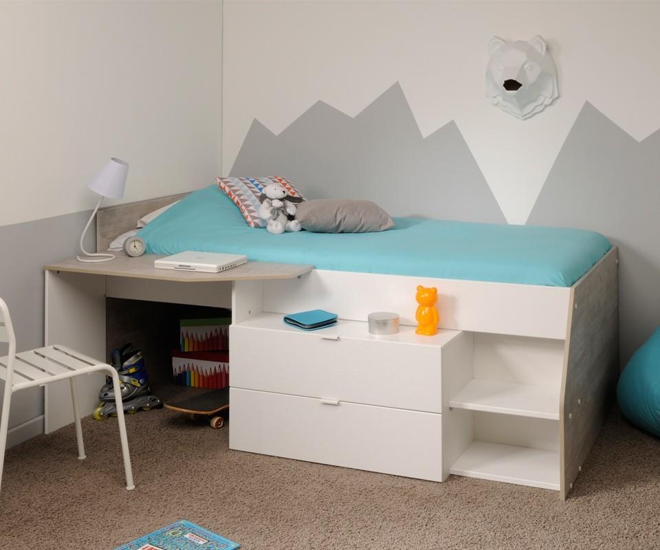 Cama nido y escritorio elisa comprar camas nido en for Cama nido con cajones ikea