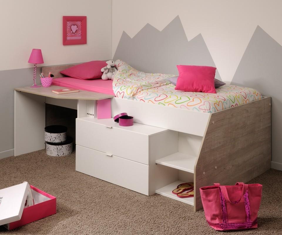 Cama arriba escritorio abajo interesting camas literas en for Camas juveniles con cajones abajo