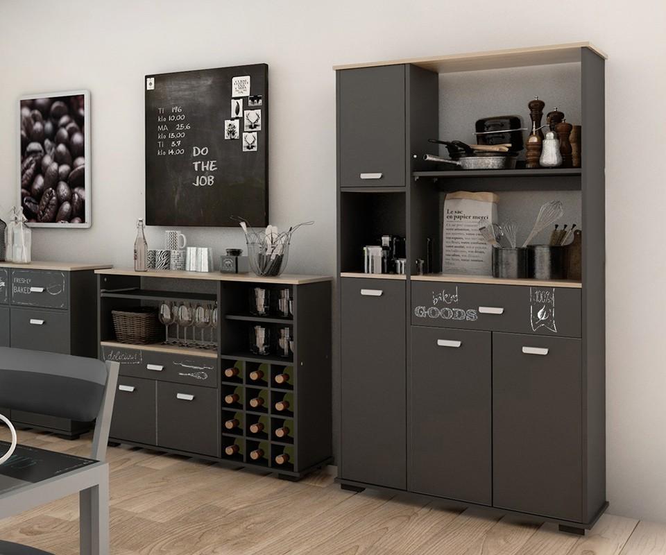 Mueble auxiliar un caj n y cuatro puertas bakery comprar for Estanteria auxiliar cocina