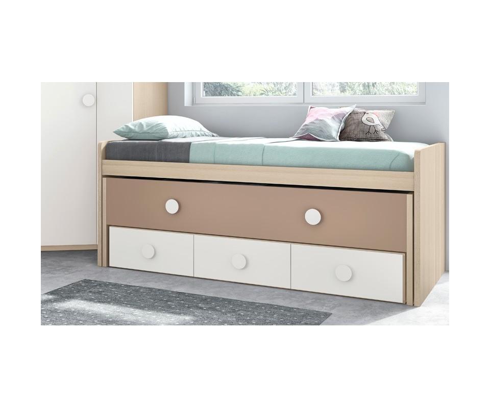 Comprar cama nido con cajones vega comprar camas nido en for Cama nido color madera