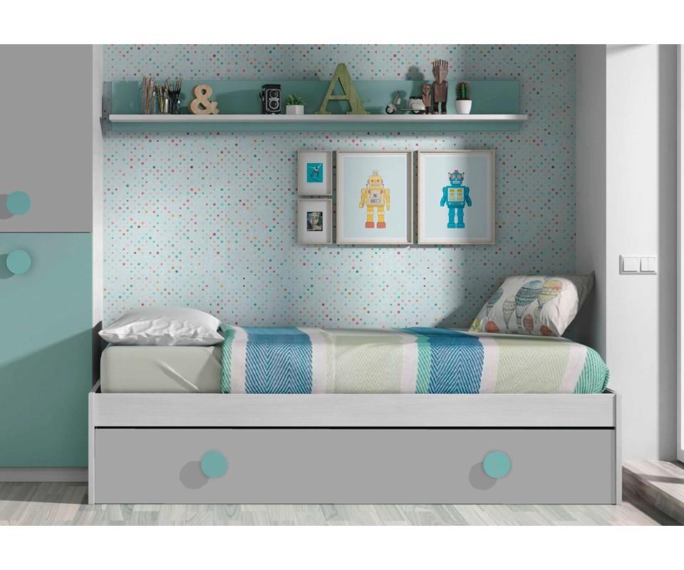 Comprar cama nido y estante mika precio camas nido - Tuco dormitorios ...