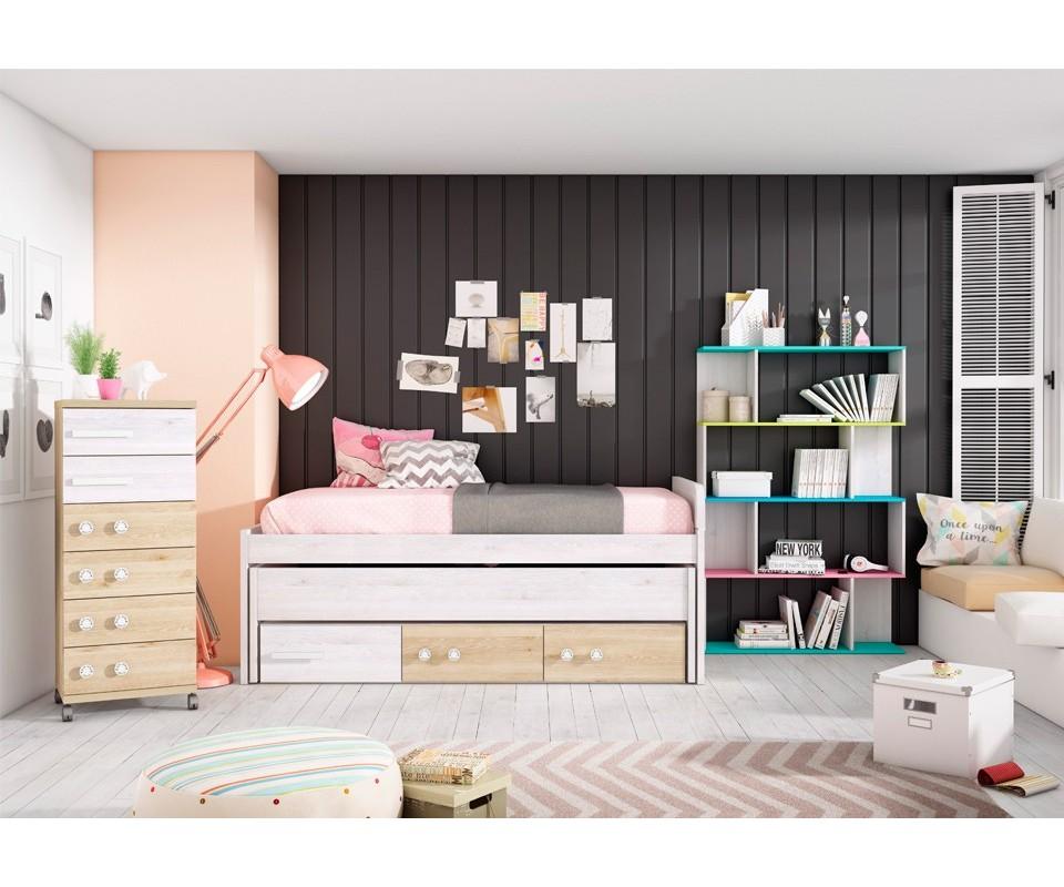 Comprar dormitorio juvenil aurora precio juveniles en Dormitorio juvenil en l