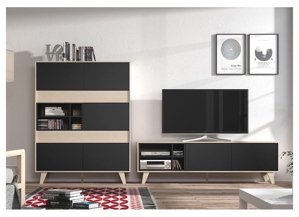 Vitrina y mueble para TV Lennon