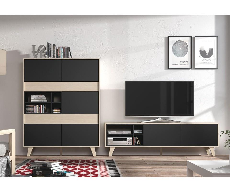 Comprar vitrina y mueble tv lennon precio muebles sal n - Mueble alto para tv ...