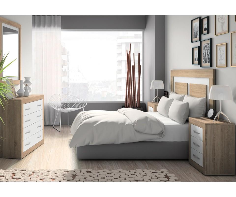 Comprar dormitorio completo calibri precio dormitorios - Cabecero y mesillas ...