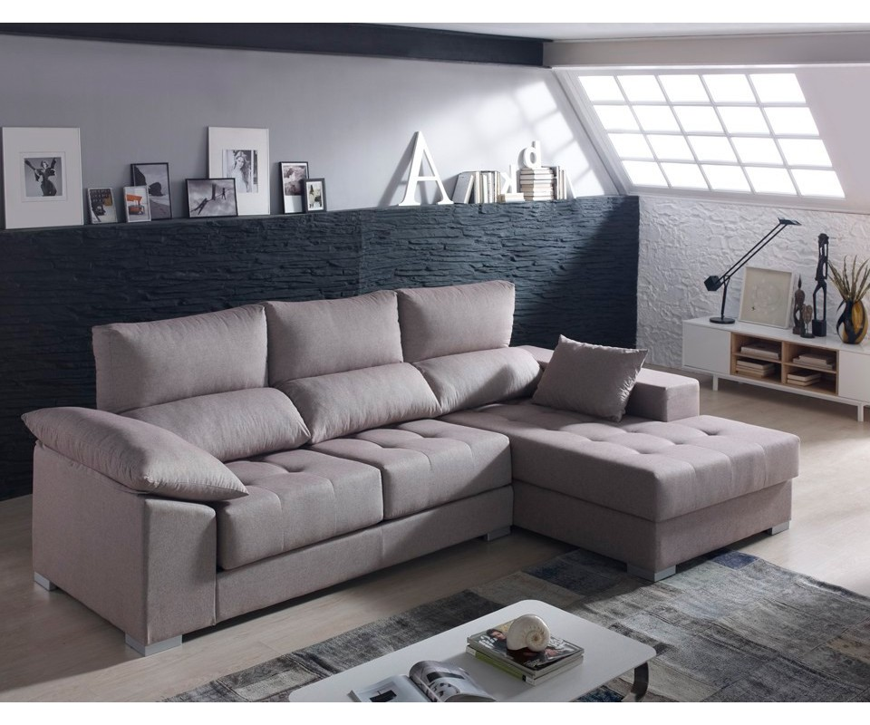 Comprar sof con chaise longue briton precio chaise for Sofa abel 3 cuerpos tela taupe