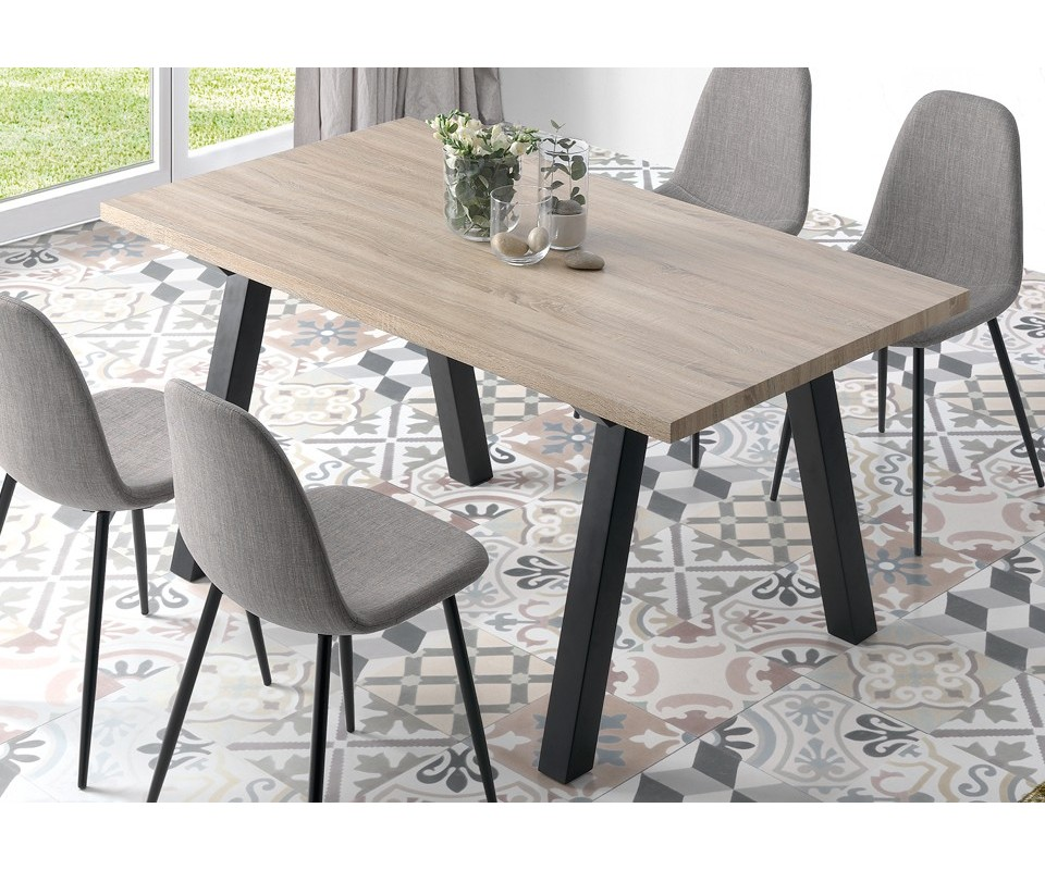 Comprar mesa de comedor de madera nugat precio mesas - Mesa de comedor ...