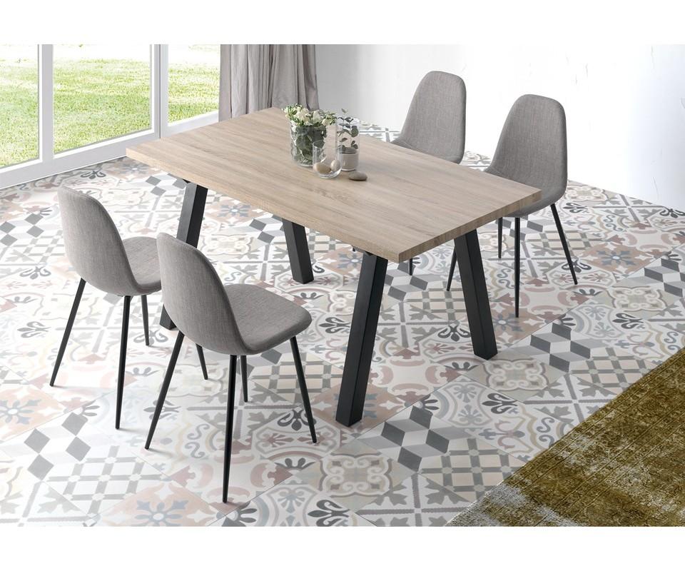 Comprar mesa de comedor de madera nugat precio mesas - Mesa comedor y sillas ...
