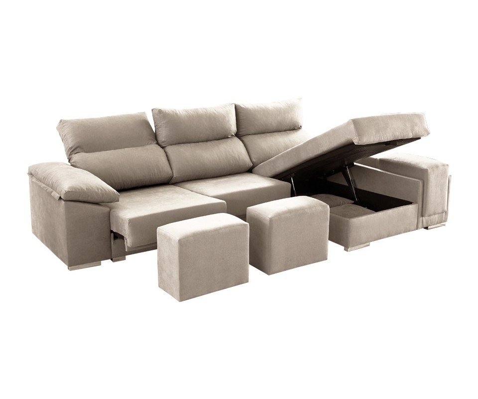 Comprar sof con chaise longue con arc n tempo precio - Sofa con chaise ...