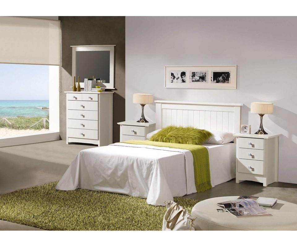 Comprar Espejo marco blanco Bari   Precio Espejos Tuco.net