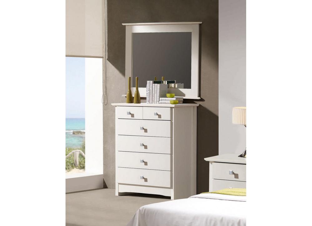 Espejo marco blanco Bari