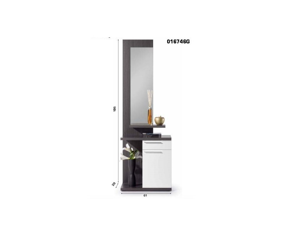 Comprar recibidor con espejo venus precio recibidores - Espejo con almacenaje ...