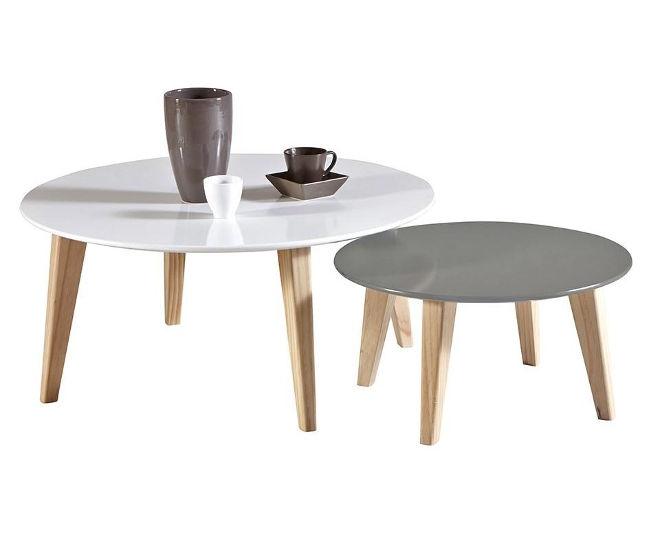 Comprar set mesas centro pata madera barata m s mesas de for Mesas de centro salon ikea