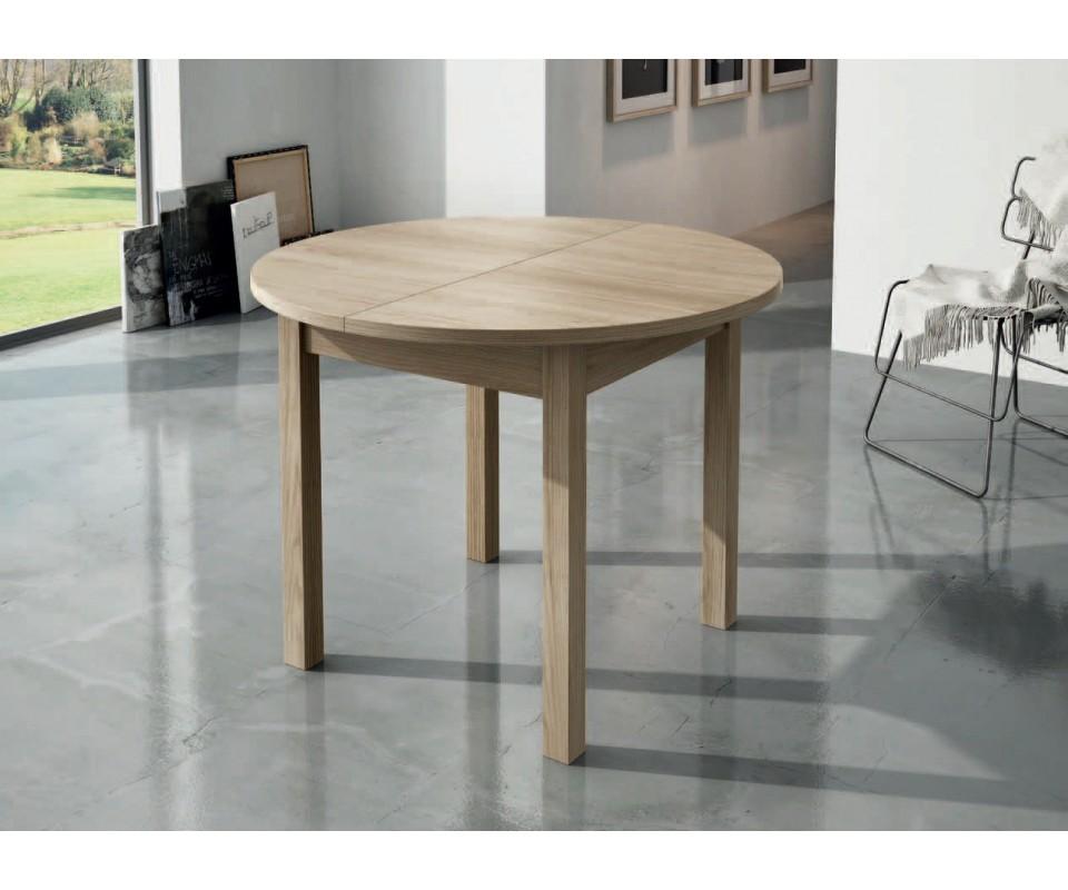 Comprar mesa de comedor redonda extensible lau for Mesas de comedor tuco