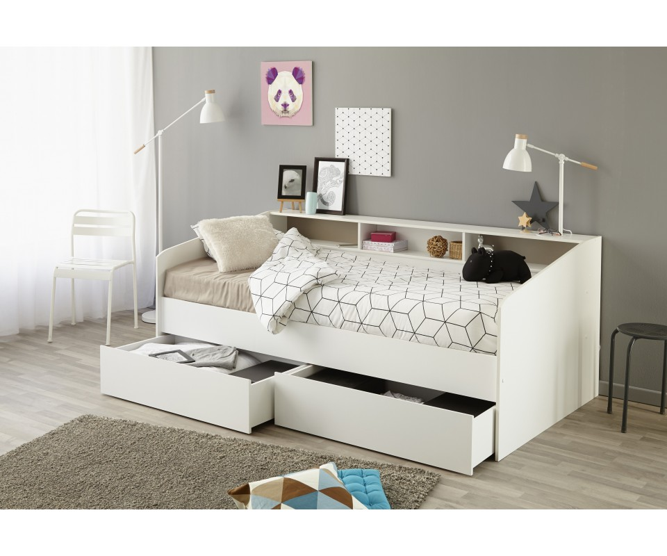 Comprar cama div n con cajones sleep for Cama doble con cajones