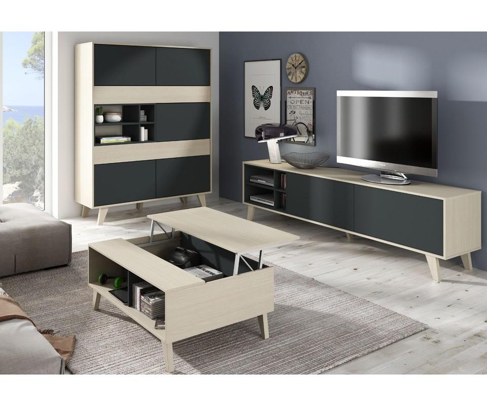 Mesa centro extensible y elevable cool mesa centro - Muebles tuco madrid ...