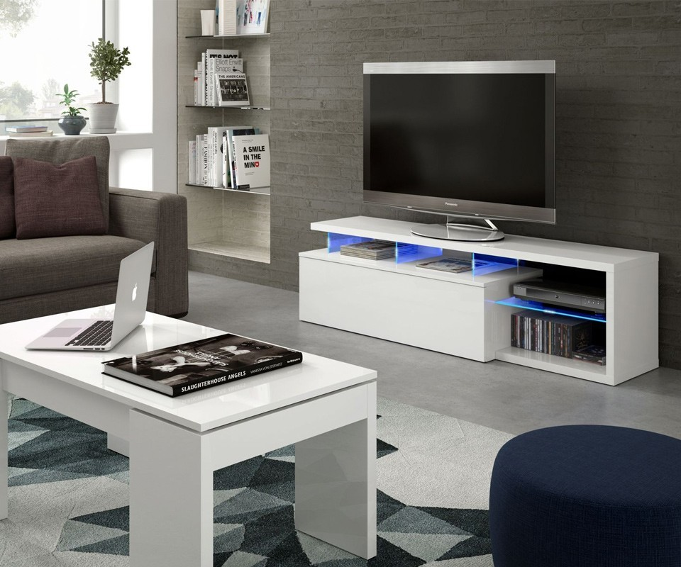 Mueble para tv con leds ligthen comprar muebles para tv for Tuco muebles salon