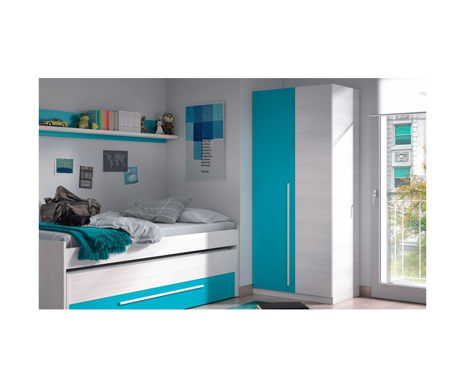 Comprar armario juvenil dos puertas alan comprar for Armarios juveniles puertas correderas