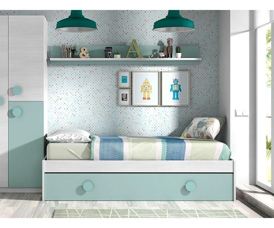 Comprar cama nido m s estanter a freeman - Rapimueble dormitorios ...