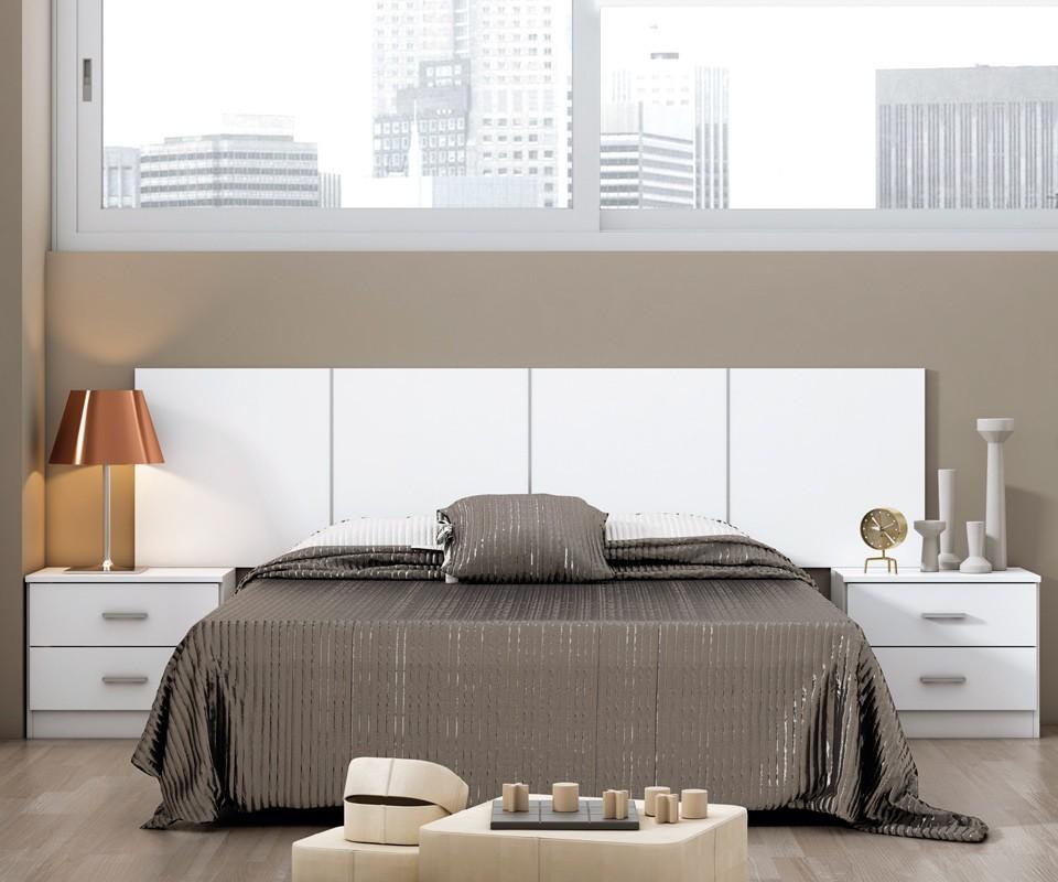 Cabecero para dormitorio moderno cyprus comprar for Cabecero cama blanco
