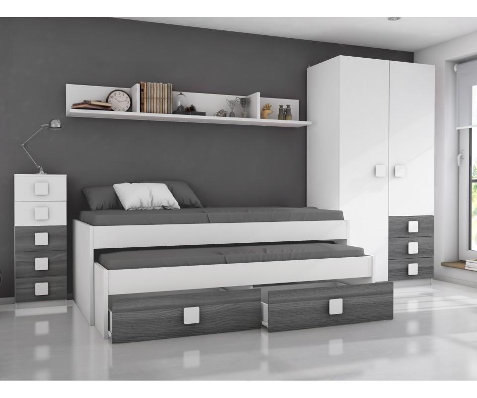 Comprar habitaci n juvenil rachel precio conjuntos for Dormitorios juveniles modernos precios