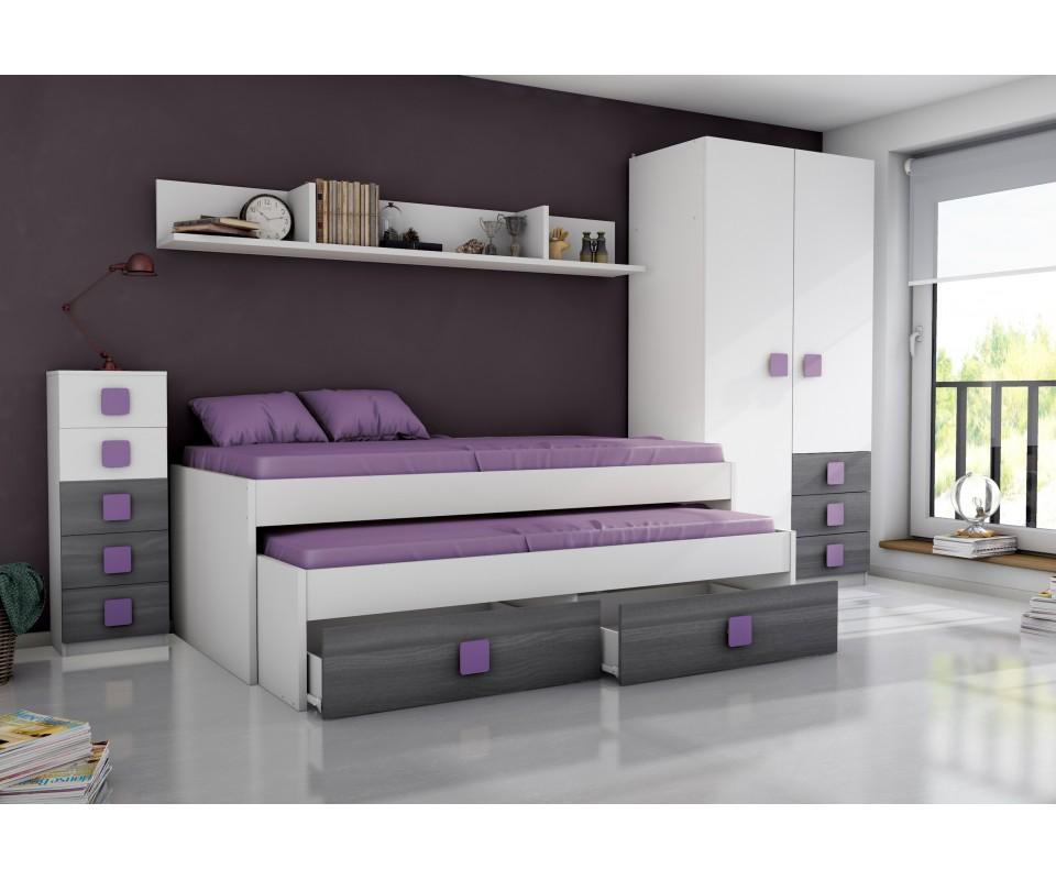 Comprar compacto juvenil rachel precio camas nido for Compacto juvenil oferta
