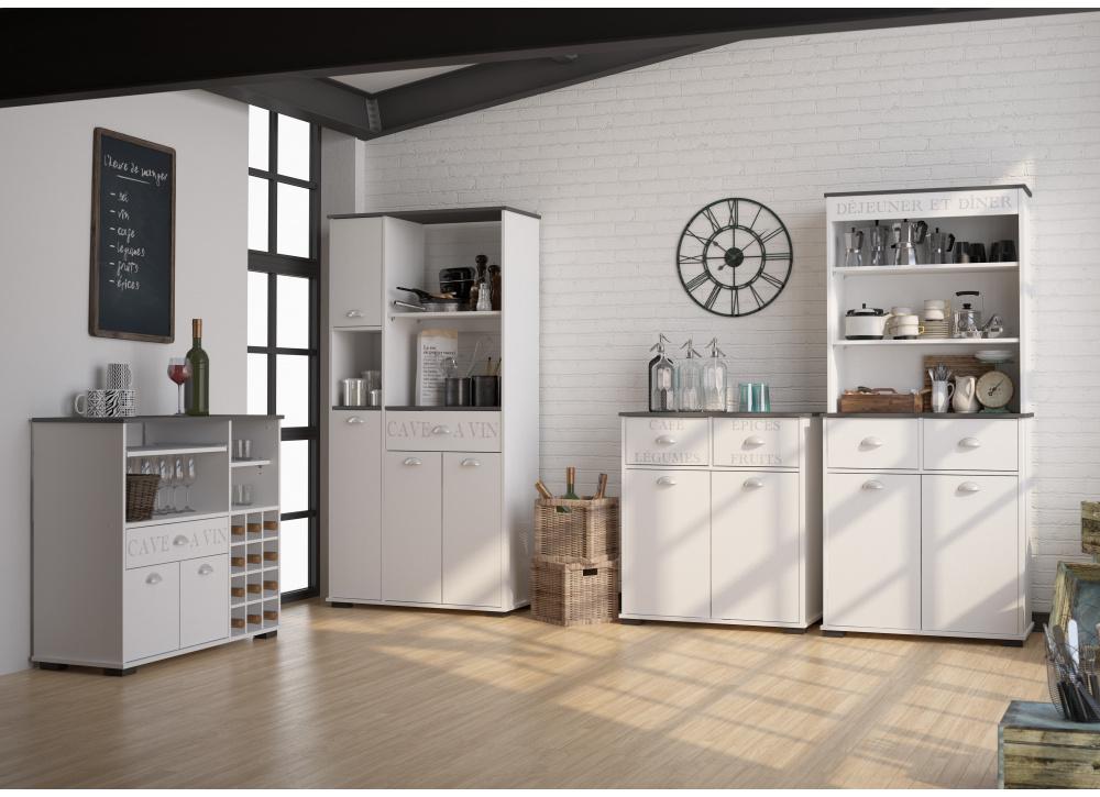 Mueble auxiliar un cajón y cuatro puertas Bakery