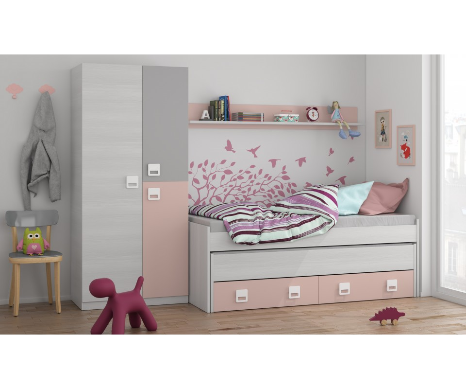 Comprar cama compacta barata precio camas en muebles for Precio cama nido doble con cajones