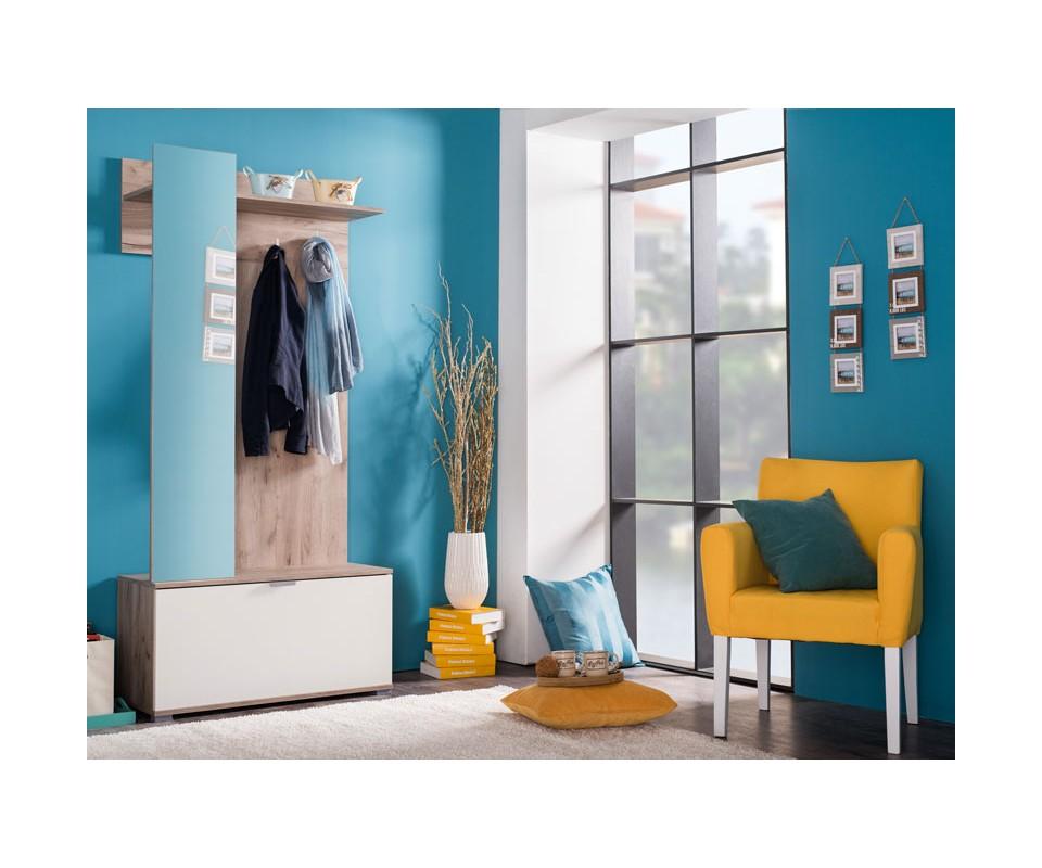 Comprar recibidor con espejo klio for Espejo con almacenaje