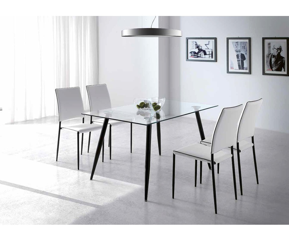 Comprar mesa comedor cristal silver - Mesas de estudio de cristal ...