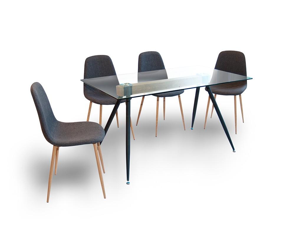 Comprar conjunto mesa y silla vega duo for Mesa cristal tuco