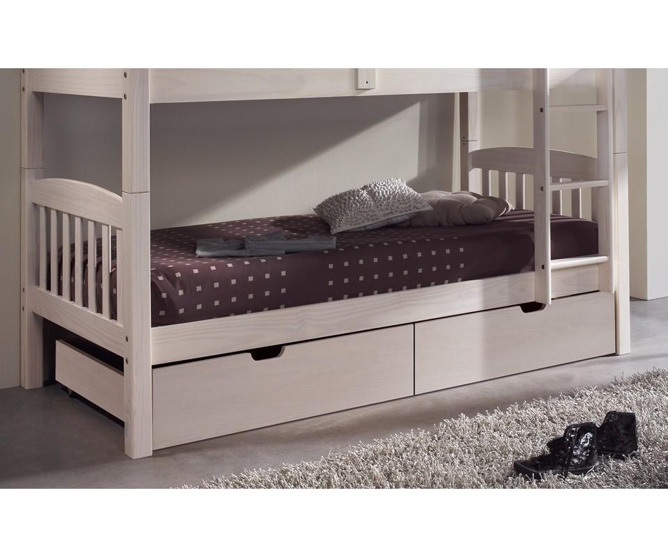 Comprar litera de madera barata precio literas en muebles for Camas blancas de madera