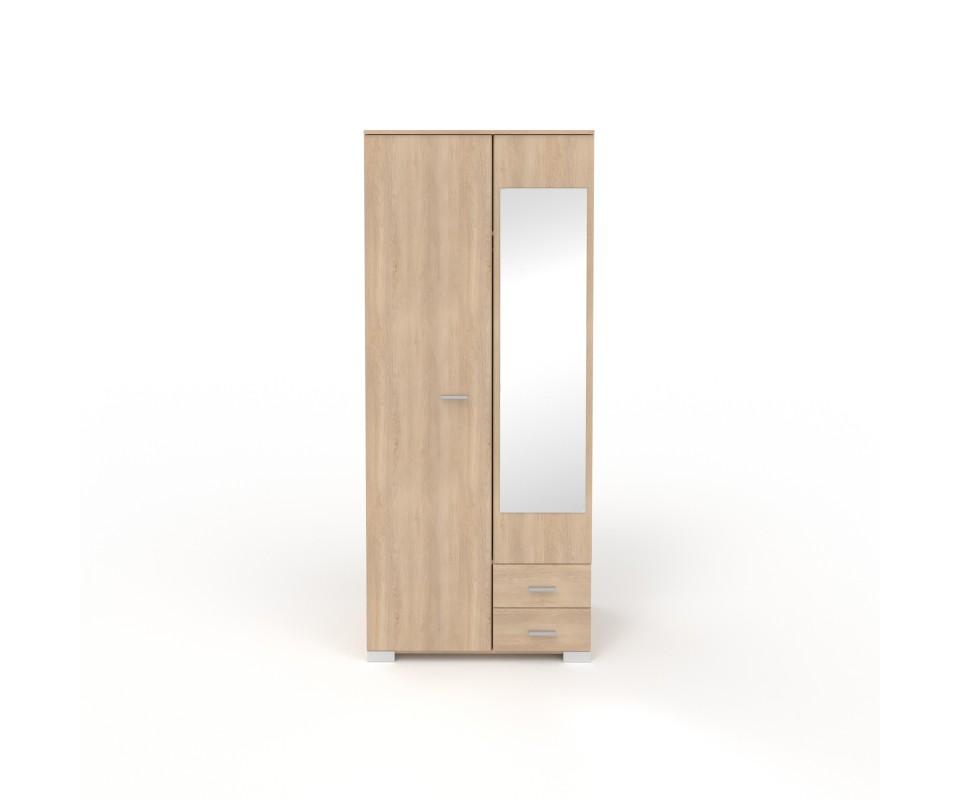Comprar armario dos puertas con espejo alax precio - Armarios dos puertas ...