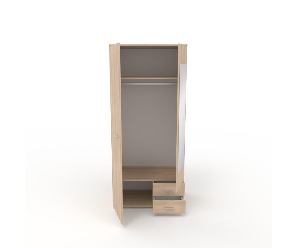 Comprar armario dos puertas con espejo alax precio for Puertas con espejo