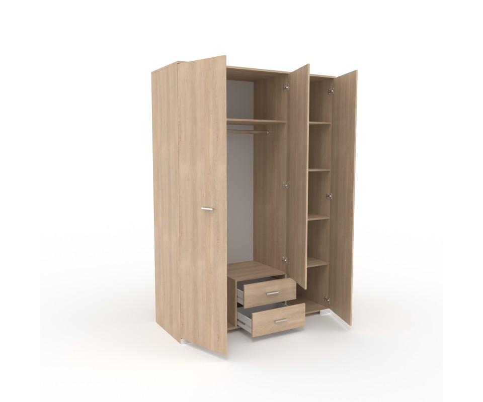 Comprar armario tres puertas con espejo alax precio armarios - Armarios tres puertas ...