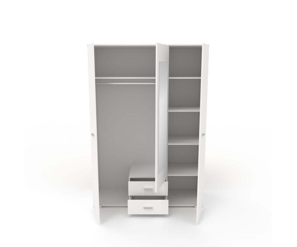 Comprar armario tres puertas con espejo alax precio for Puertas con espejo