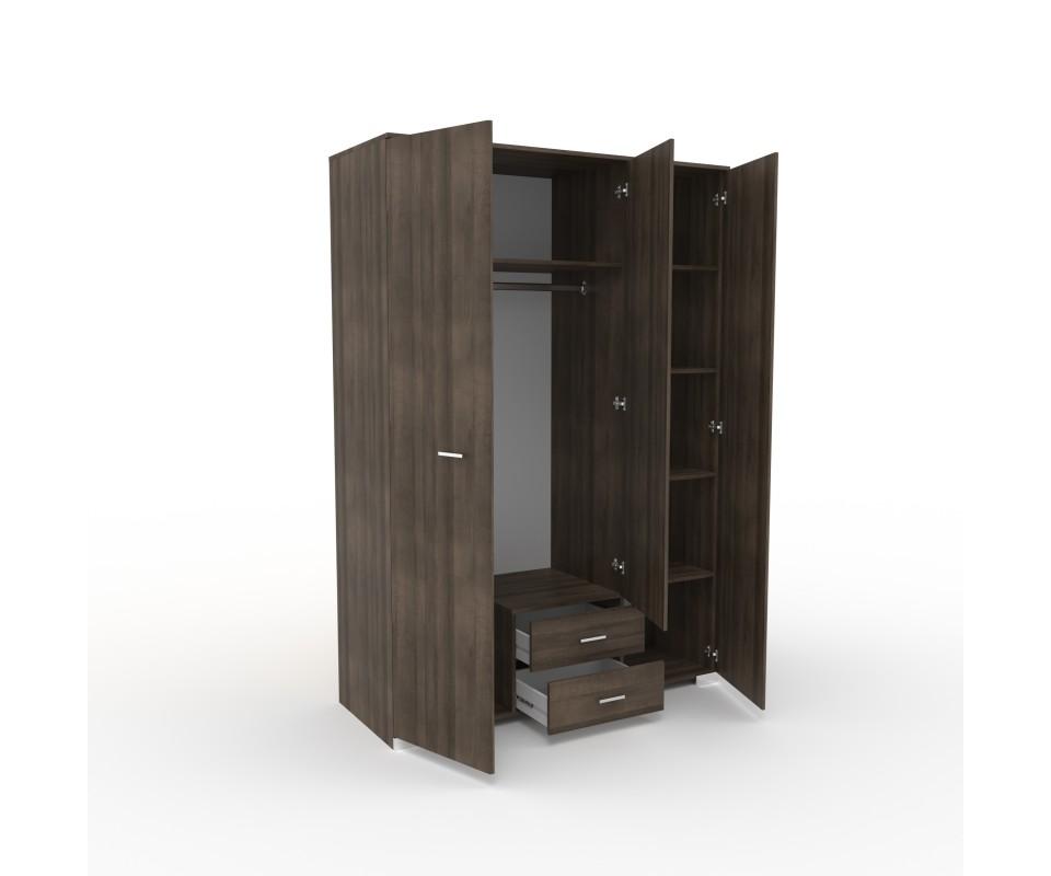 Comprar armario tres puertas con espejo alax precio - Armarios tres puertas ...