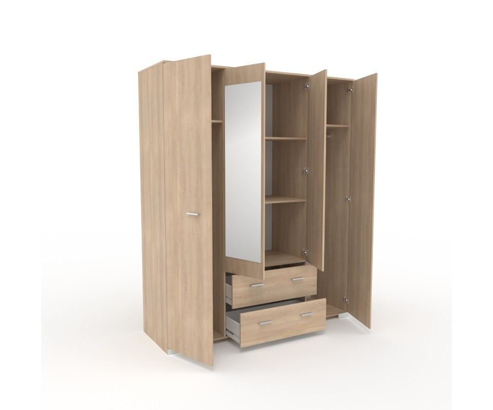 Comprar armario cuatro puertas con espejo alax precio - Armario con espejo ...