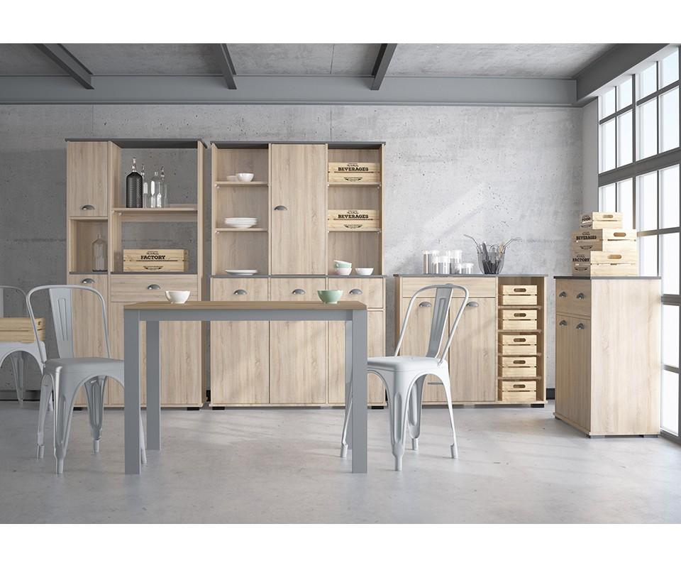 Mueble auxiliar un caj n y cuatro puertas bakery comprar for Mueble auxiliar moderno