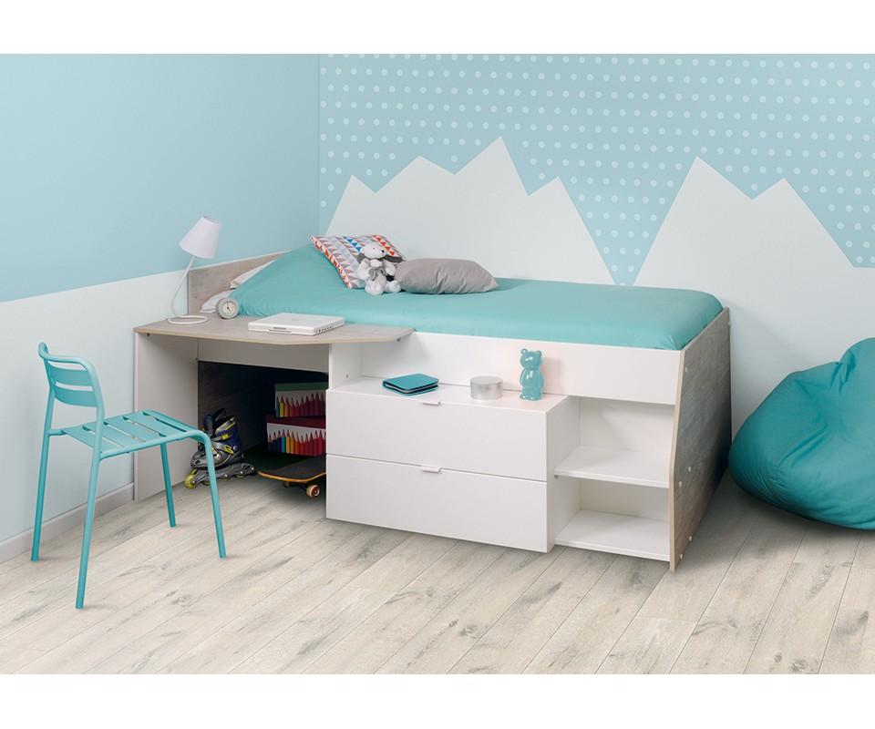 Cama nido y escritorio barato comprar camas nido en - Cama de 90 con cajones ...