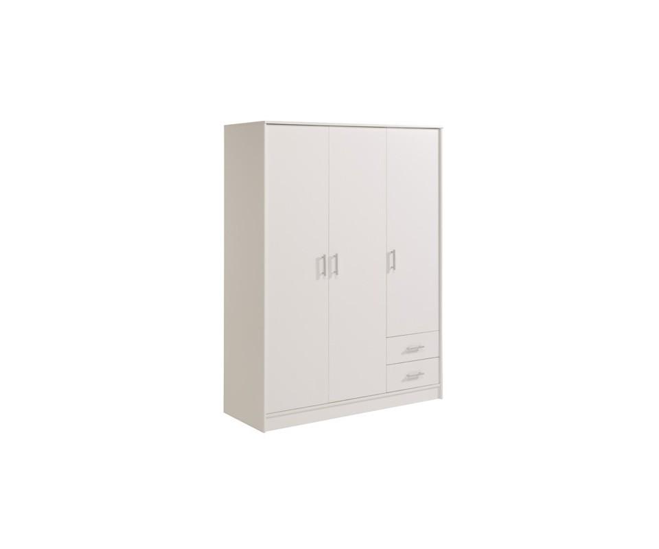 Comprar armario 3 ptas blanco barato precio armarios for Armario de dormitorio blanco barato